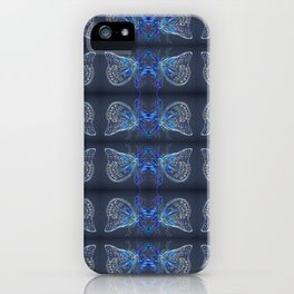 Blue Butterflies Navy & Indigo Palette iPhone Case