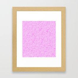 Microchip Pattern (Pink) Framed Art Print
