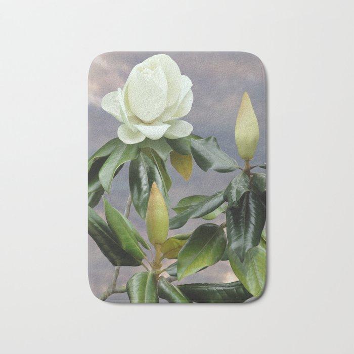 White Magnolia Tree Bath Mat