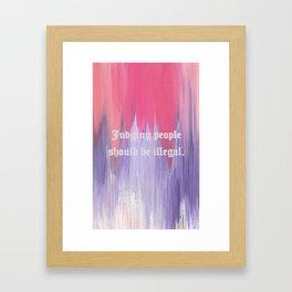 Judging People Framed Art Print