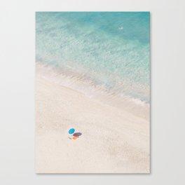 The Aqua Umbrella Canvas Print