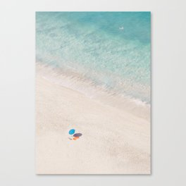 The Aqua Umbrella Canvas Print