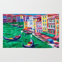 italy Area & Throw Rugs featuring Venice, Italy by BOYAN DIMITROV