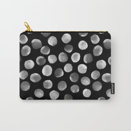 White Watercolor Dots Carry-All Pouch