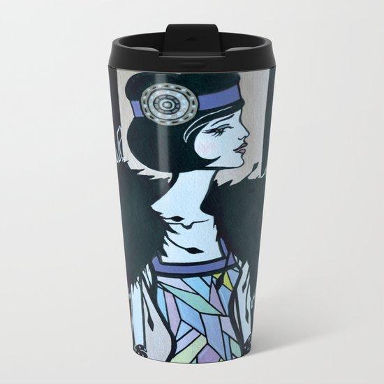 Melancholic flapper Metal Travel Mug