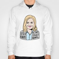 leslie knope Hoodies featuring Leslie Knope is my spirit animal by kate gabrielle