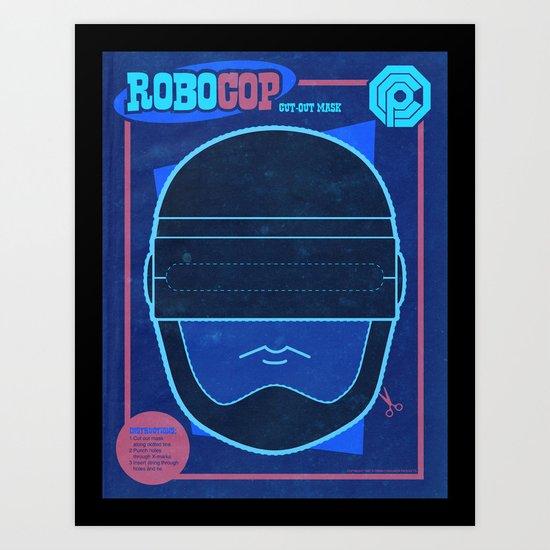 Robocop Mask Art Print
