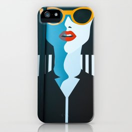 Girl with sunglasses iPhone Case