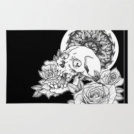 Skull and Flower Rug