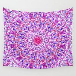 Groovy Trippy Colorful Boho Hippie Mandala Wall Tapestry