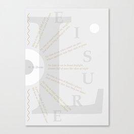 LEISURE I Canvas Print