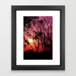 Pinky Sunset Framed Art Print