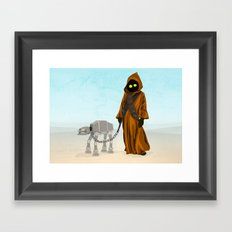 A Morning Walk - Jawa and Friend Framed Art Print