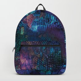 Violet snake skin pattern Backpack