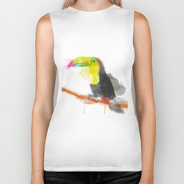 Watercolor Toucan Biker Tank