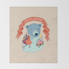 Soul Bear Throw Blanket