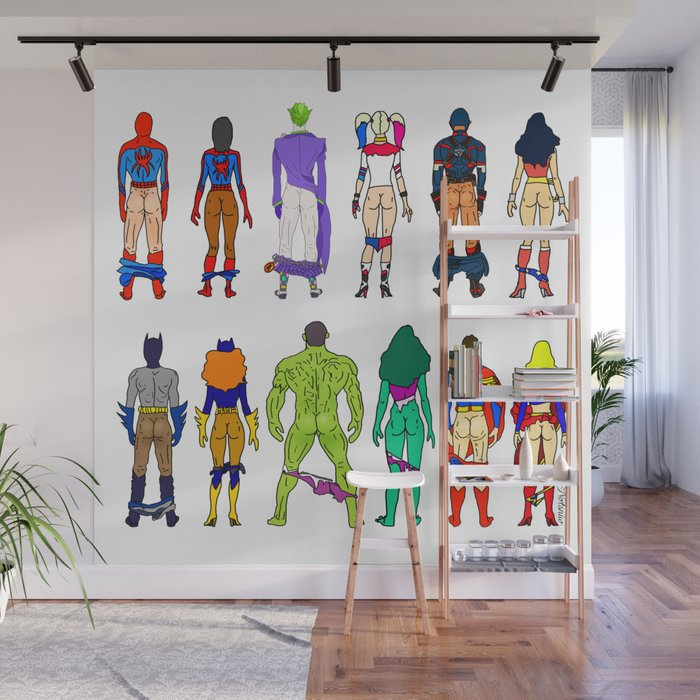 Superhero Butts - Power Couple Wall Mural
