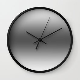 White to Black Horizontal Bilinear Gradient Wall Clock