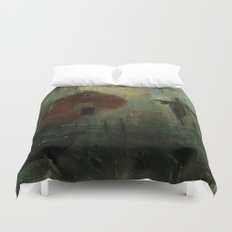 The crow and the Scarecrow Duvet Cover