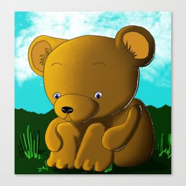 Thoughtful bear Canvas Print