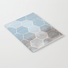 honeycomb winter forest // copper & blue Notebook
