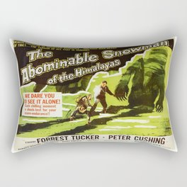 The Abominable Snowman of Himalayas, vintage horror movie poster Rectangular Pillow