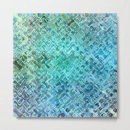 Pattern bluegreen Metal Print