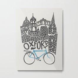 Oxford Cityscape Metal Print