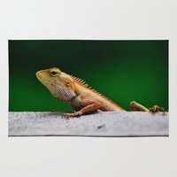 lizard Area & Throw Rugs featuring Lizard by Paul Anthony Thompson
