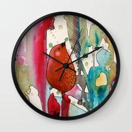 jouons aux bois Wall Clock