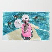 mermaids Area & Throw Rugs featuring Mermaids by Condor