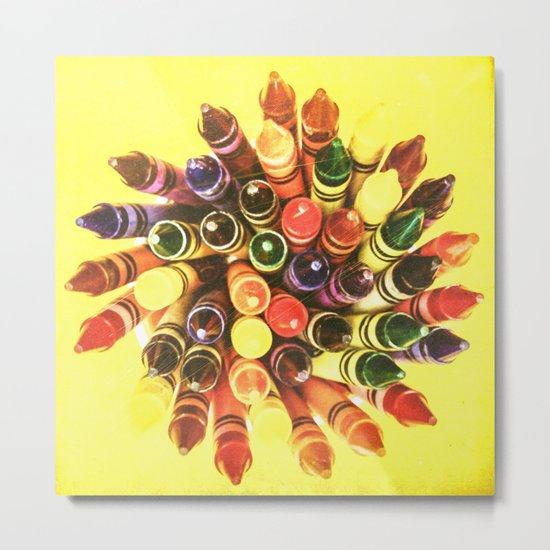 Crayon Love: Crayon Bouquet Metal Print