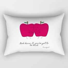 Kind Apples (or An Ode To My Imaginary Boyfriend) Rectangular Pillow