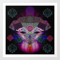 Diamond Mind Transmitter Art Print