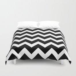 Chevron Black & White Duvet Cover
