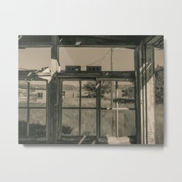 Empty Window Panes, Sepia Metal Print