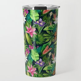 Tropical Lush Sanctuary, A Bohemian Paradise Travel Mug