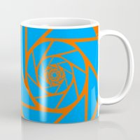 aperture Mugs featuring Aperture Vector by Alli Vanes