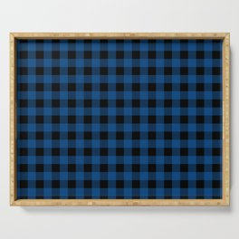 Plaid (blue/black) Serving Tray