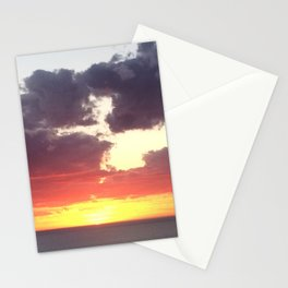 Glorious sunset in Adelaide, South Australia, Moana sandy beach Stationery Cards