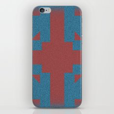 Blue & Red Noises iPhone & iPod Skin