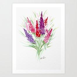 Buddleia Bouquet Art Print