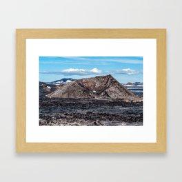 Krafla Lava fields - Iceland Framed Art Print