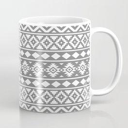 Aztec Essence Ptn III White on Grey Coffee Mug