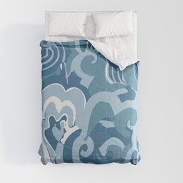 save the ocean Comforters