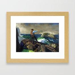 "George Wesley Bellows ""The Fisherman"" Framed Art Print"