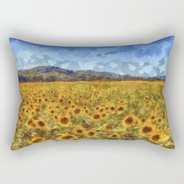 Vincent Van Gogh Sunflowers Rectangular Pillow