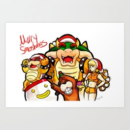 Merry Smashmas Art Print