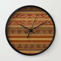 navajo Wall Clocks featuring Navajo  by Terry Fan