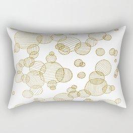Striped circles - gold palette Rectangular Pillow